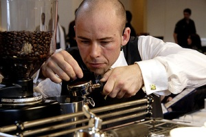 barista Scott Callaghan at the 2007 World Barista Championship in Tokyo