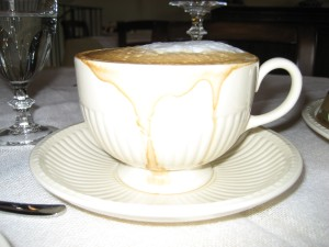 Cappuccino at the  Lodole Country House