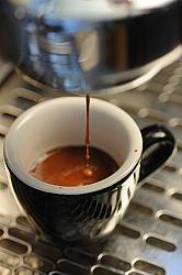 espresso shot closeup