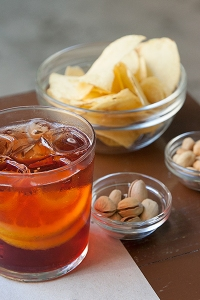 Campari and nuts