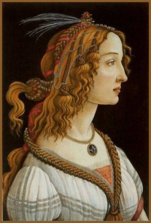 woman boticelli portrait